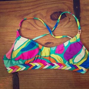 Trina Turk Colorful geometric bikini top